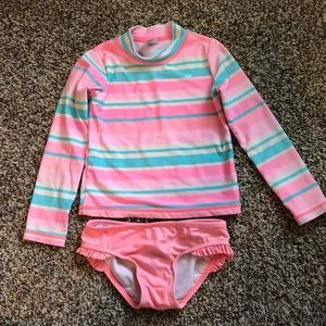 Carters girl two-piece swimsuit size 5
